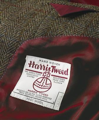 hand woven harris tweed